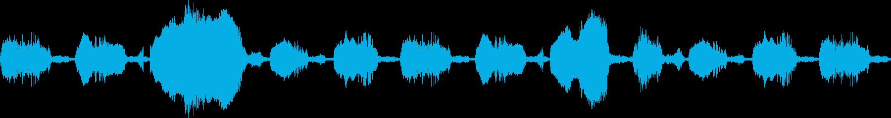 【赤ちゃん】 泣き声,ぐずる,ぐずり声の再生済みの波形