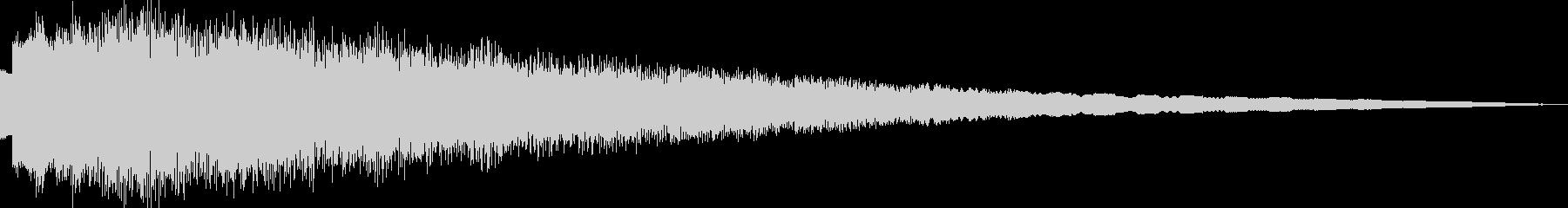 ピューン(ピコピコ/ワープ/異次元/移動の未再生の波形