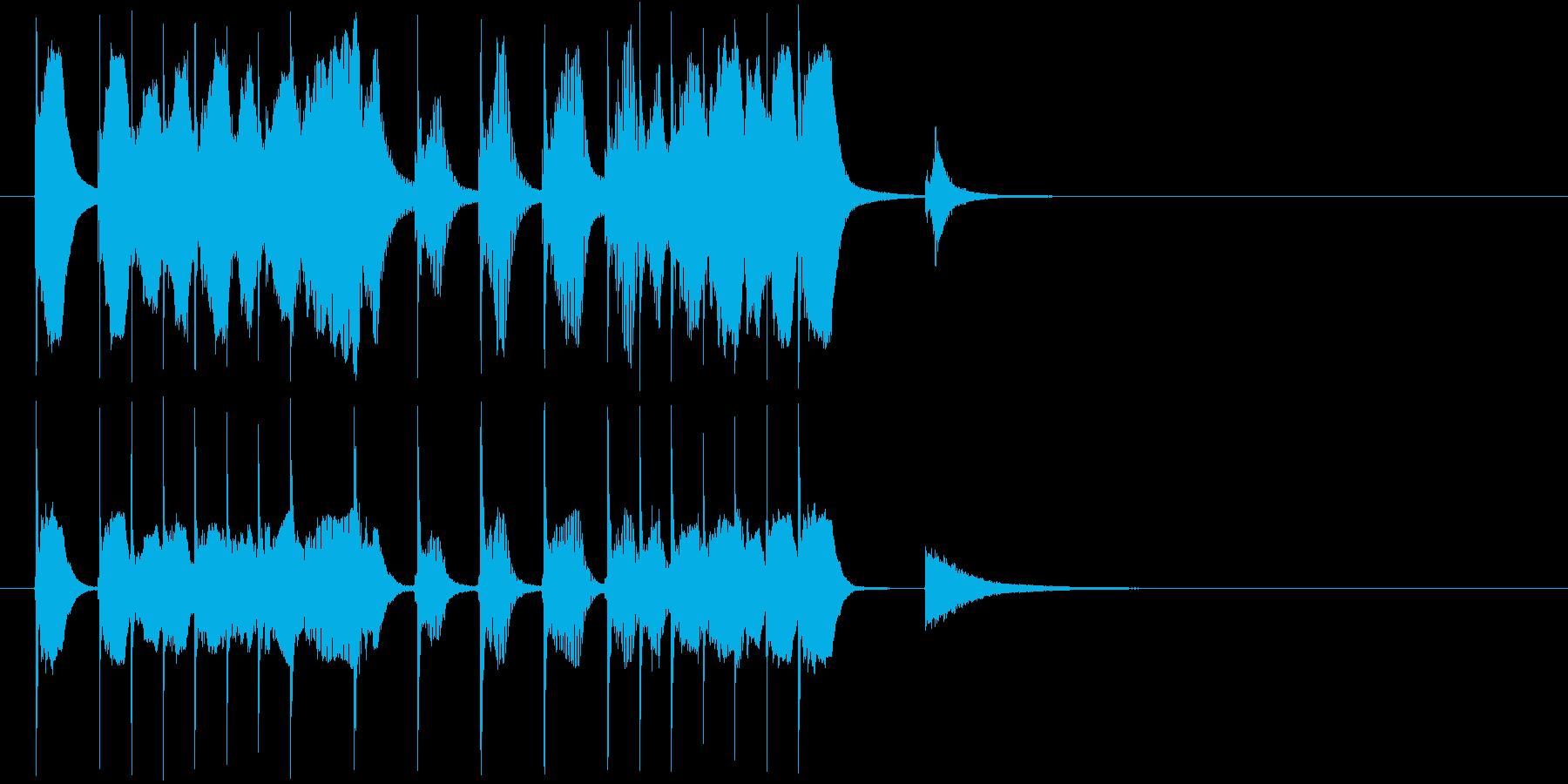 ゆるキャラのような可愛いコミカルジングルの再生済みの波形