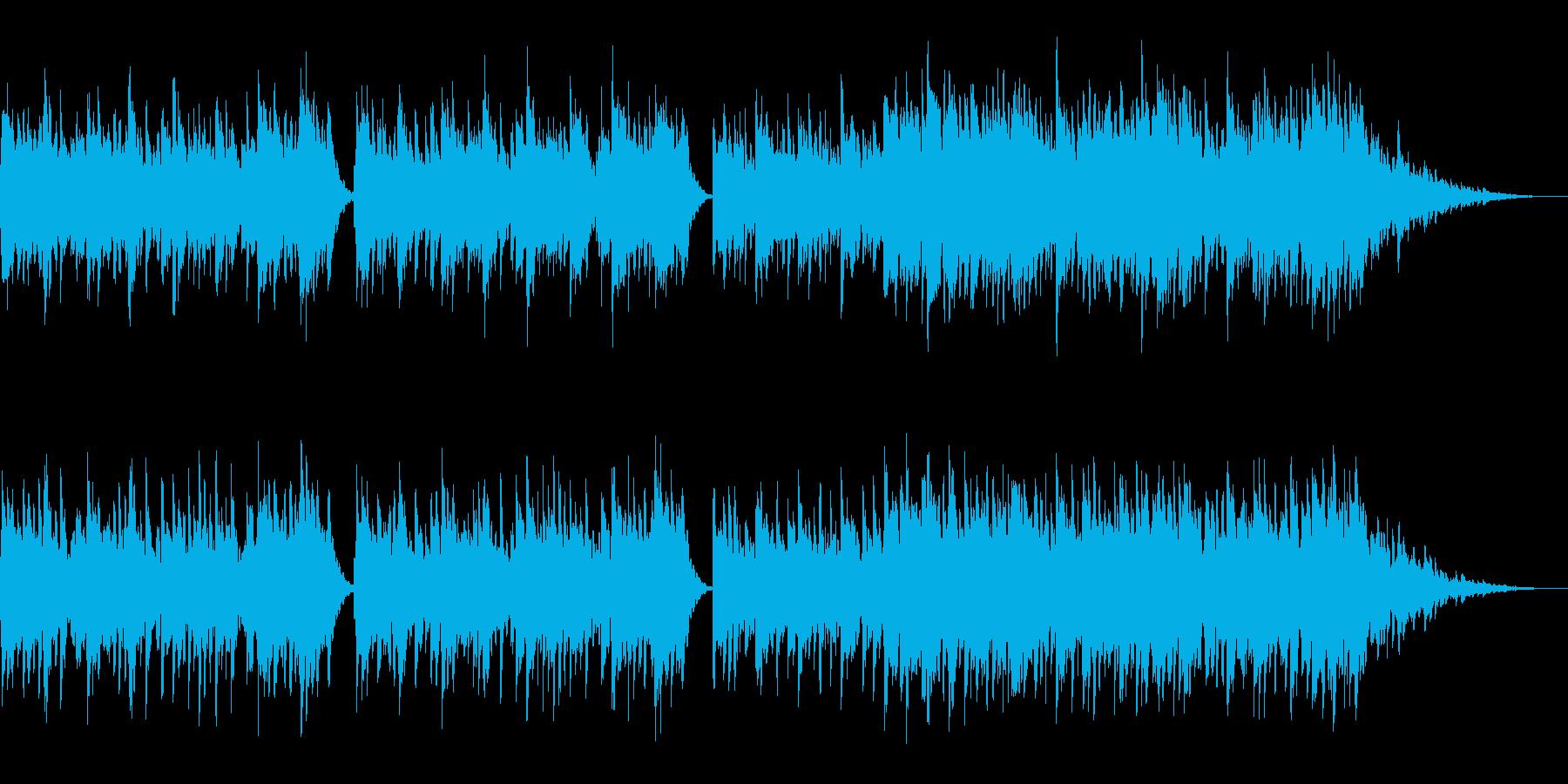 動画BGM用のピアノ曲(エレピ)の再生済みの波形