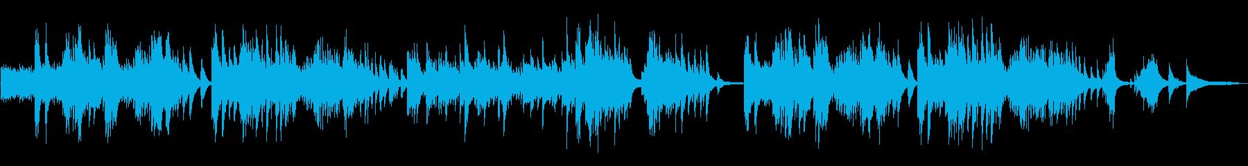 どこか懐かしいピアノの再生済みの波形