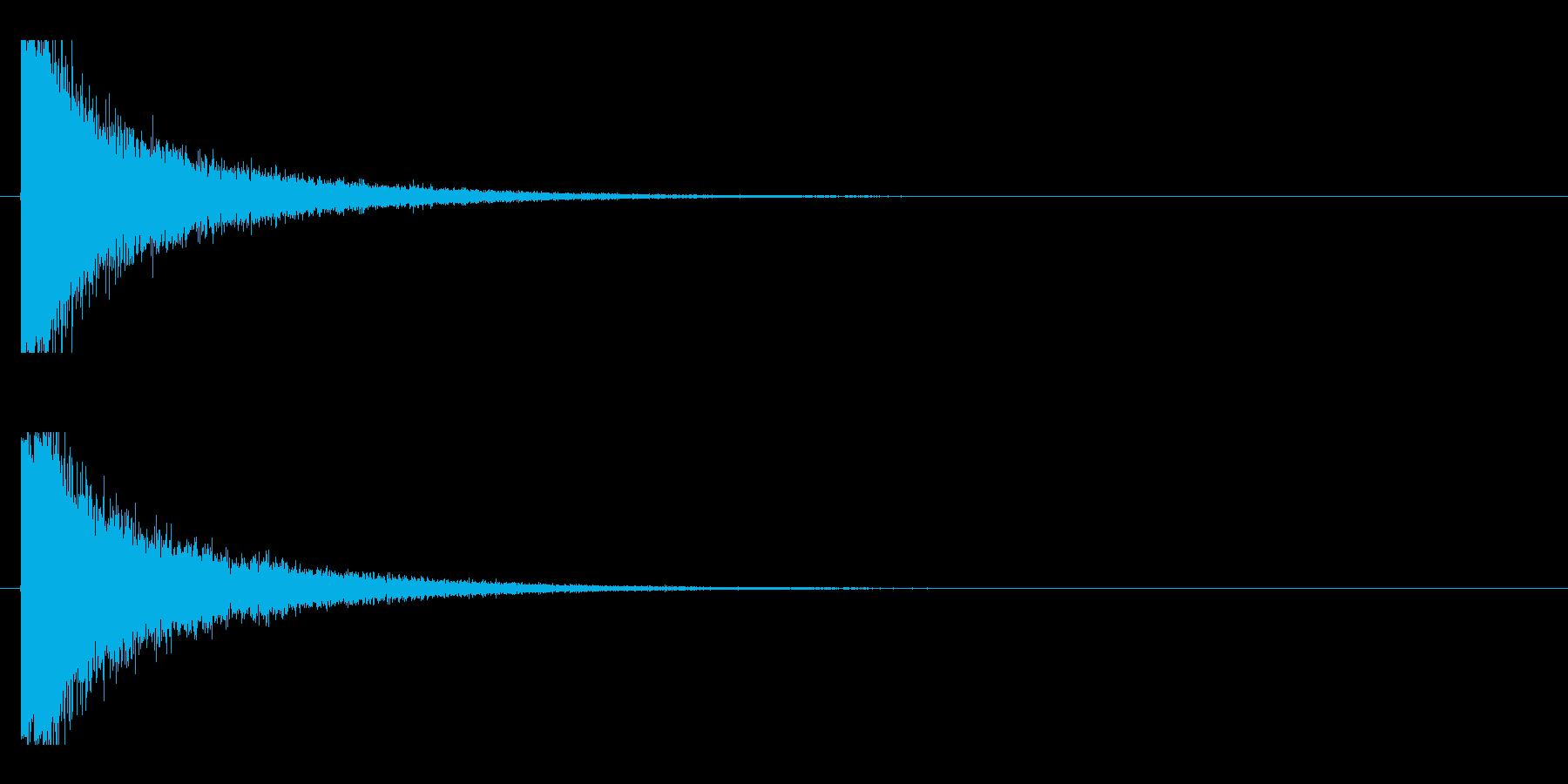 レーザー音-08-1の再生済みの波形