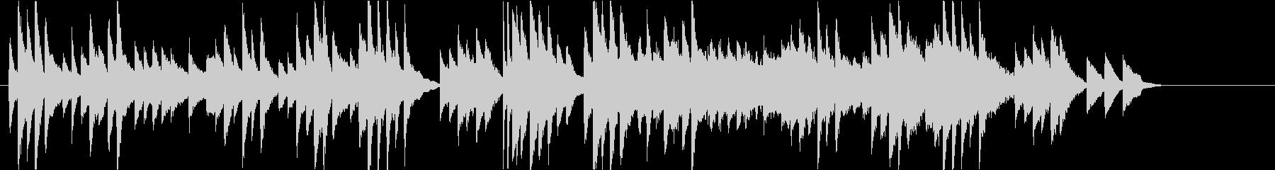 感動的なシーンに流れるピアノバラードの未再生の波形