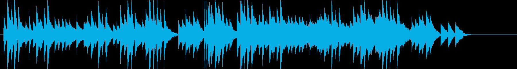 感動的なシーンに流れるピアノバラードの再生済みの波形