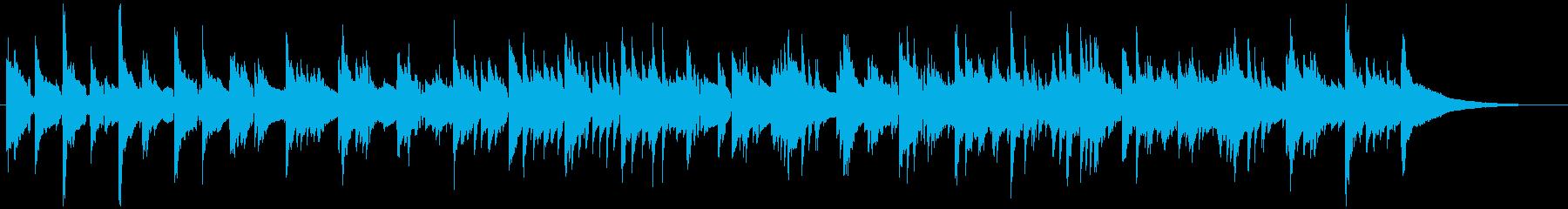 ピアノのカントリーバラードの再生済みの波形