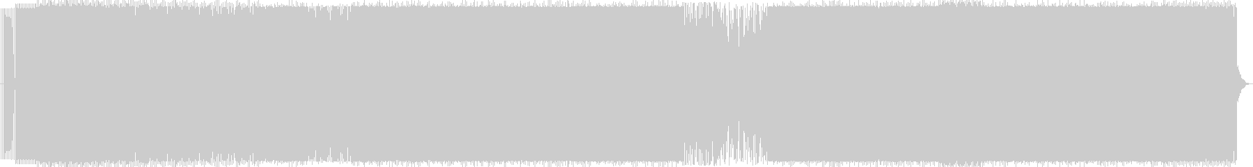 グルーヴィーなBGM用ロングトラックの未再生の波形