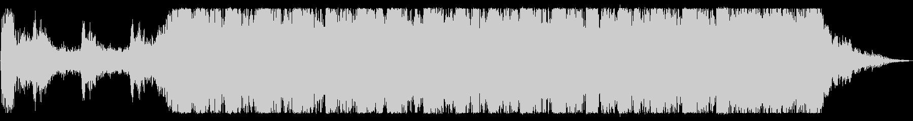 無機質で金属的なBGMの未再生の波形
