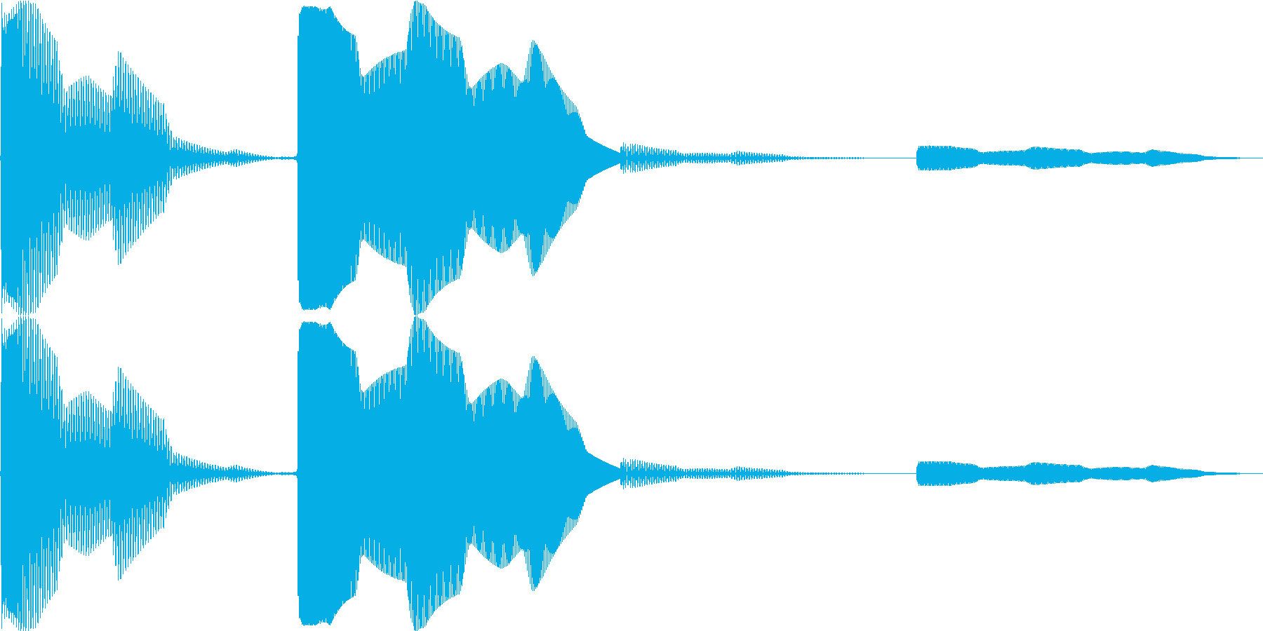 ポカッというコミカルな音です。の再生済みの波形