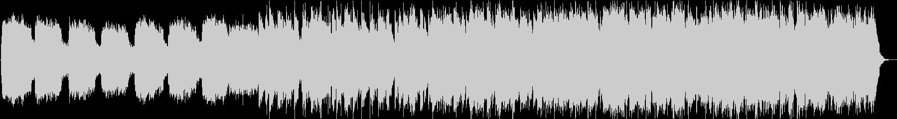 静かな笛とシンセサイザーの落ち着く音楽の未再生の波形