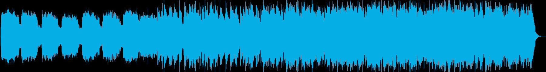 静かな笛とシンセサイザーの落ち着く音楽の再生済みの波形