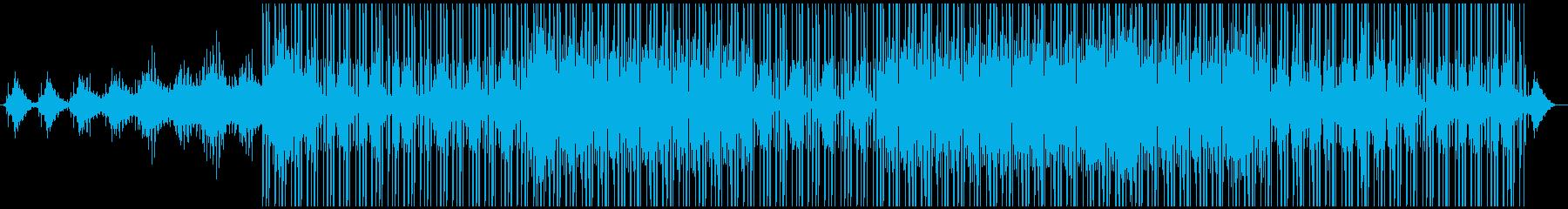 幻想的で浮遊感のあるダブテクノの再生済みの波形