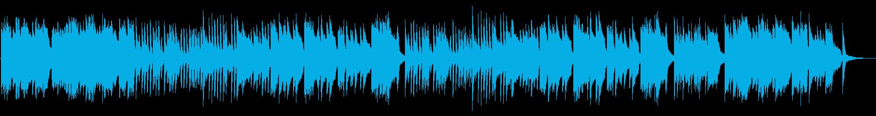 きらきらとしたフレーズ多めの3拍子の曲の再生済みの波形