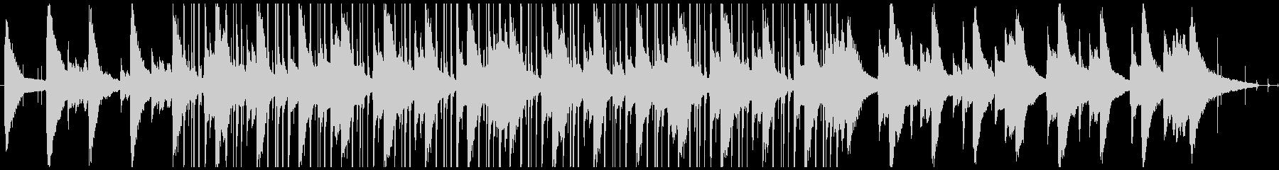 お洒落ピアノのLofiヒップホップの未再生の波形