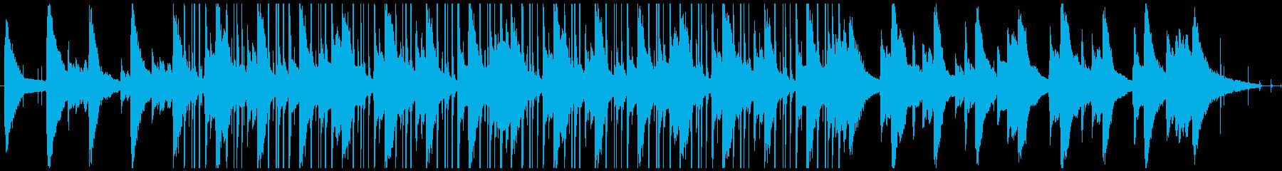 お洒落ピアノのLofiヒップホップの再生済みの波形