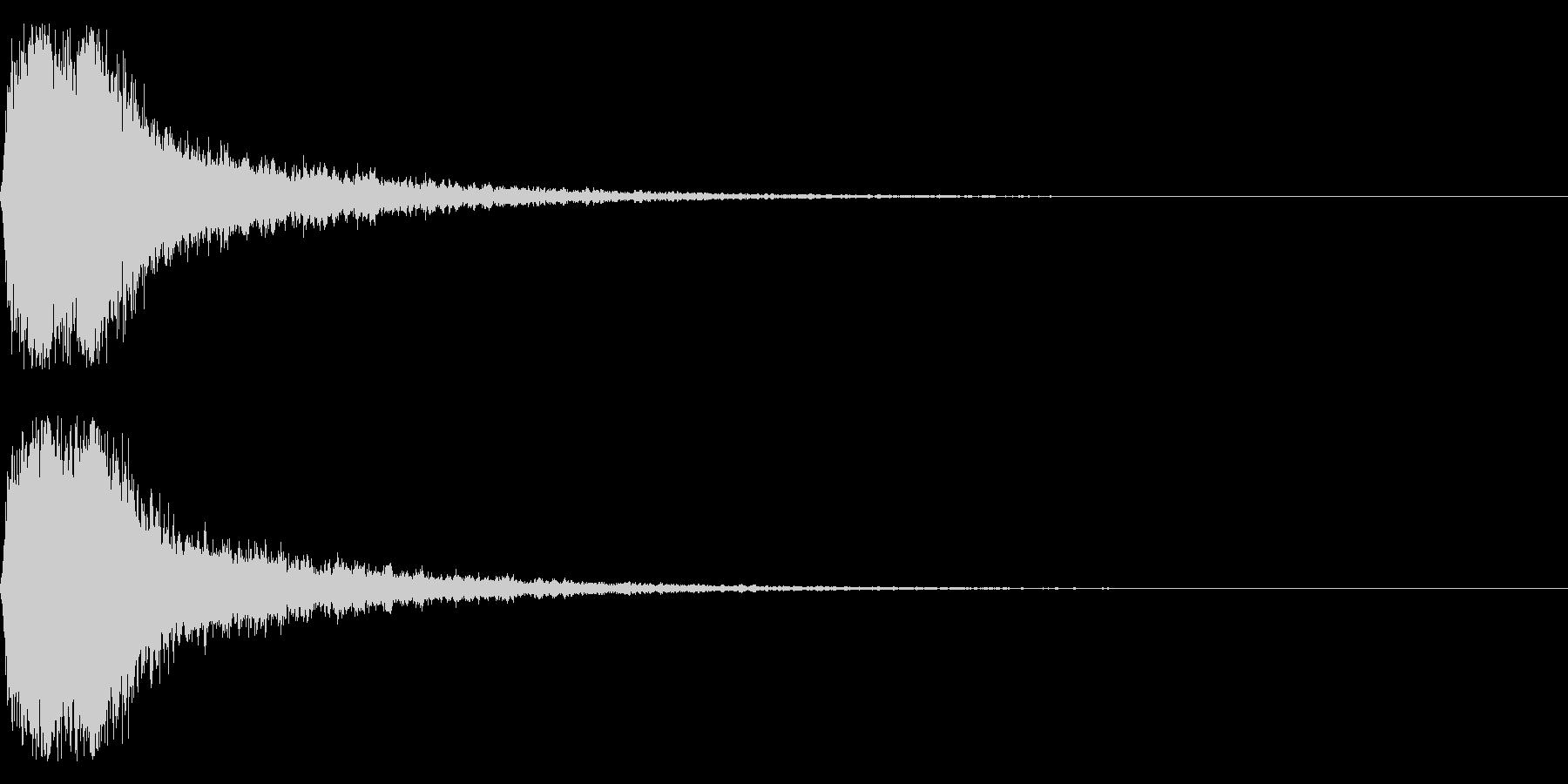 グシャ!刀や剣の斬撃音 17vの未再生の波形