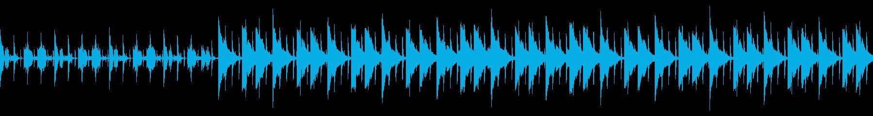 シリアスなシーンでの会話中のBGMの再生済みの波形