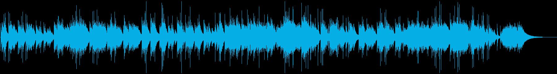 しっとりと落ち着くピアノ演奏の再生済みの波形