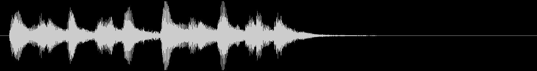 のほほんジングル015_陽気-3の未再生の波形