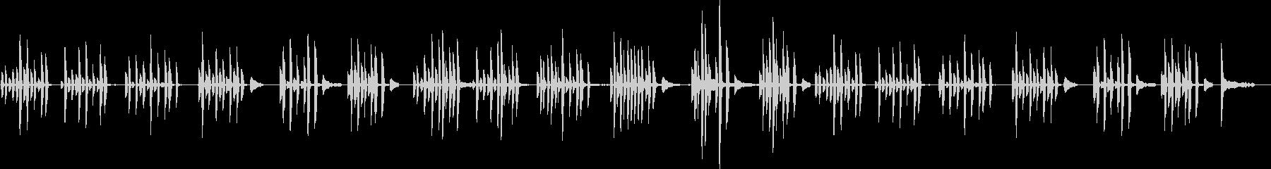 ほのぼのピアノ、穏やかなピアノソロの未再生の波形