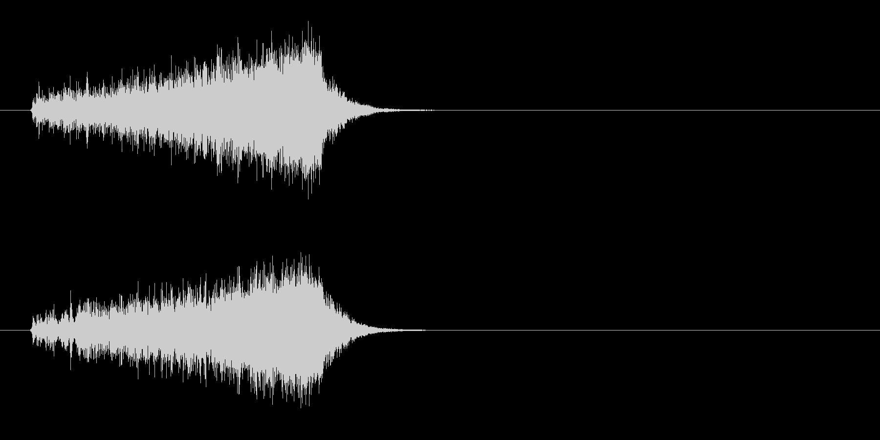 不穏な音色のストリングスのジングルの未再生の波形