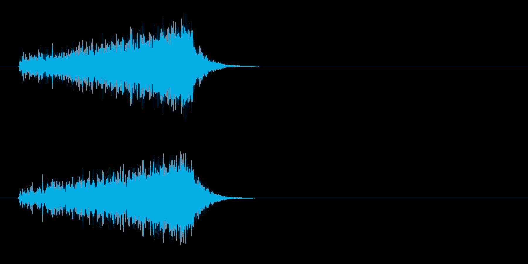 不穏な音色のストリングスのジングルの再生済みの波形