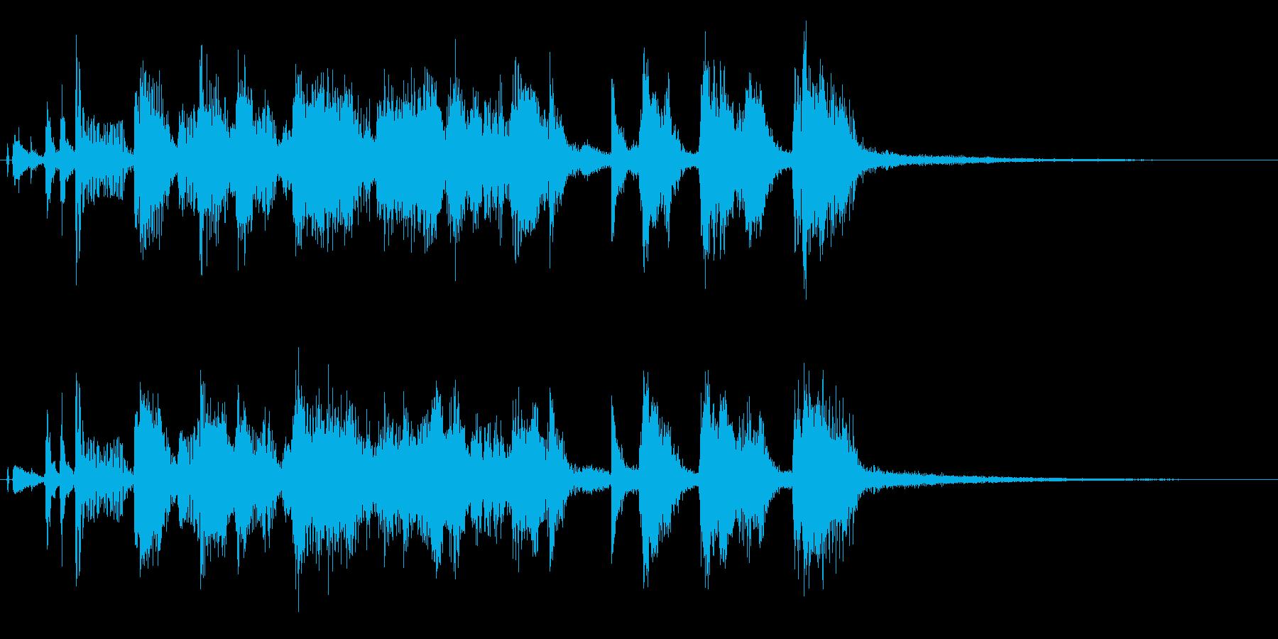 ホーンセクションとウッドベースのジングルの再生済みの波形