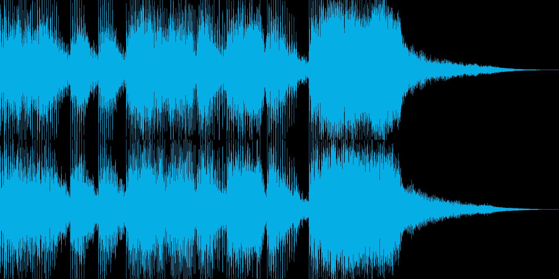 発展ジングル(5sec)の再生済みの波形