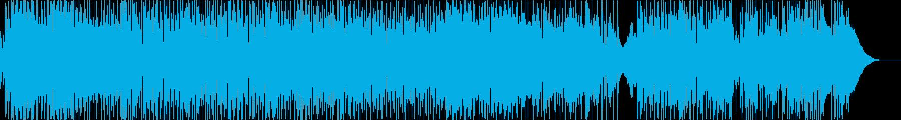 ポップロックなギターインストの再生済みの波形