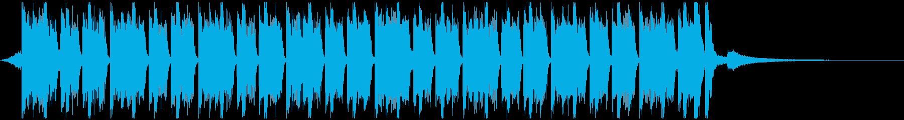 スポーツ音楽(23秒)の再生済みの波形