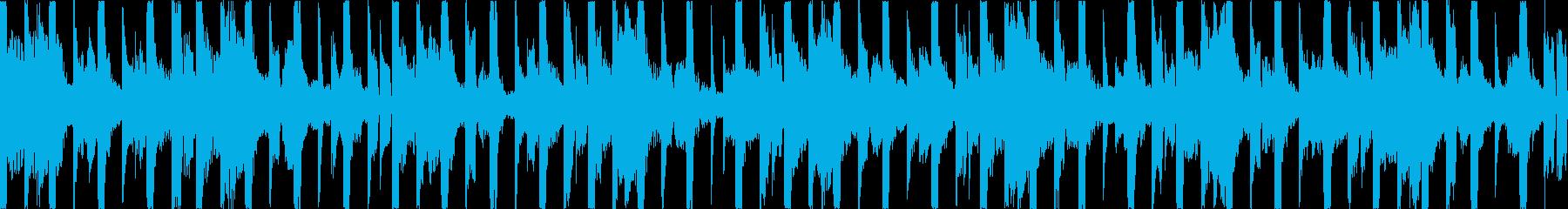 淡々とした無機質なBGMの再生済みの波形