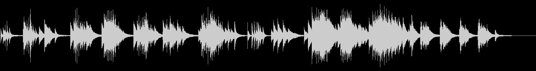 リラックスできるピアノバラードの未再生の波形