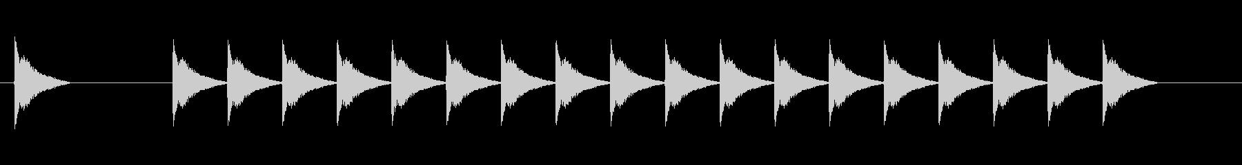 アラーム、電子警告信号の未再生の波形