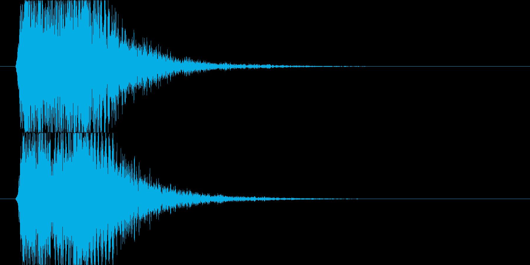 映画などで驚いたりㇵッとする場面の効果音の再生済みの波形