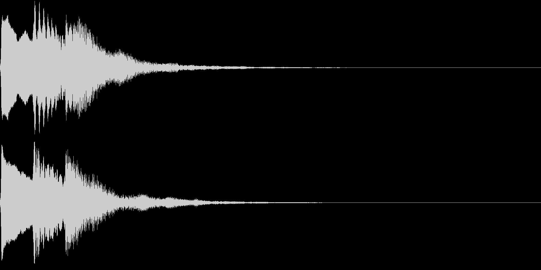 PopSynth ぷっくり可愛い電子音6の未再生の波形