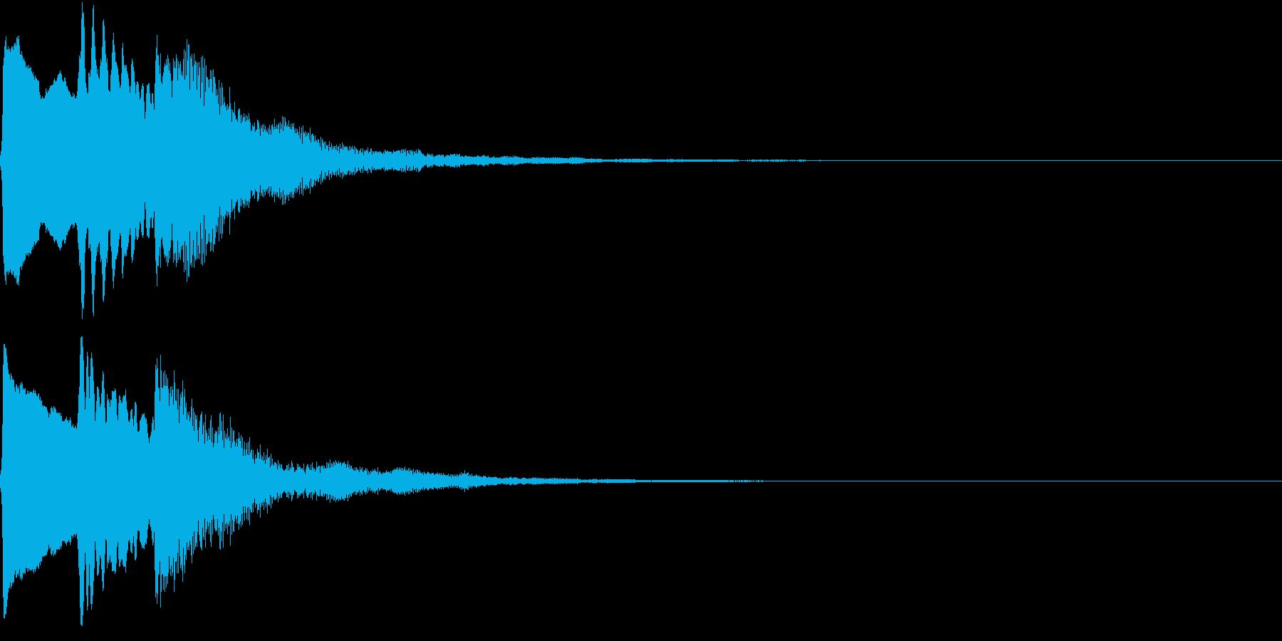 PopSynth ぷっくり可愛い電子音6の再生済みの波形