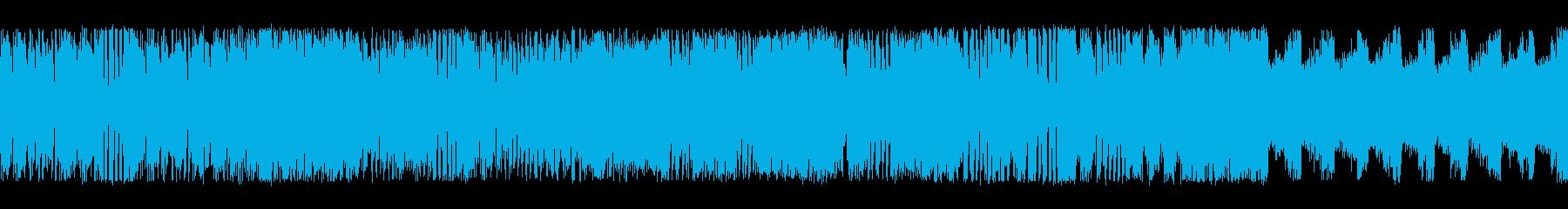 横スクアクションステージ風チップチューンの再生済みの波形