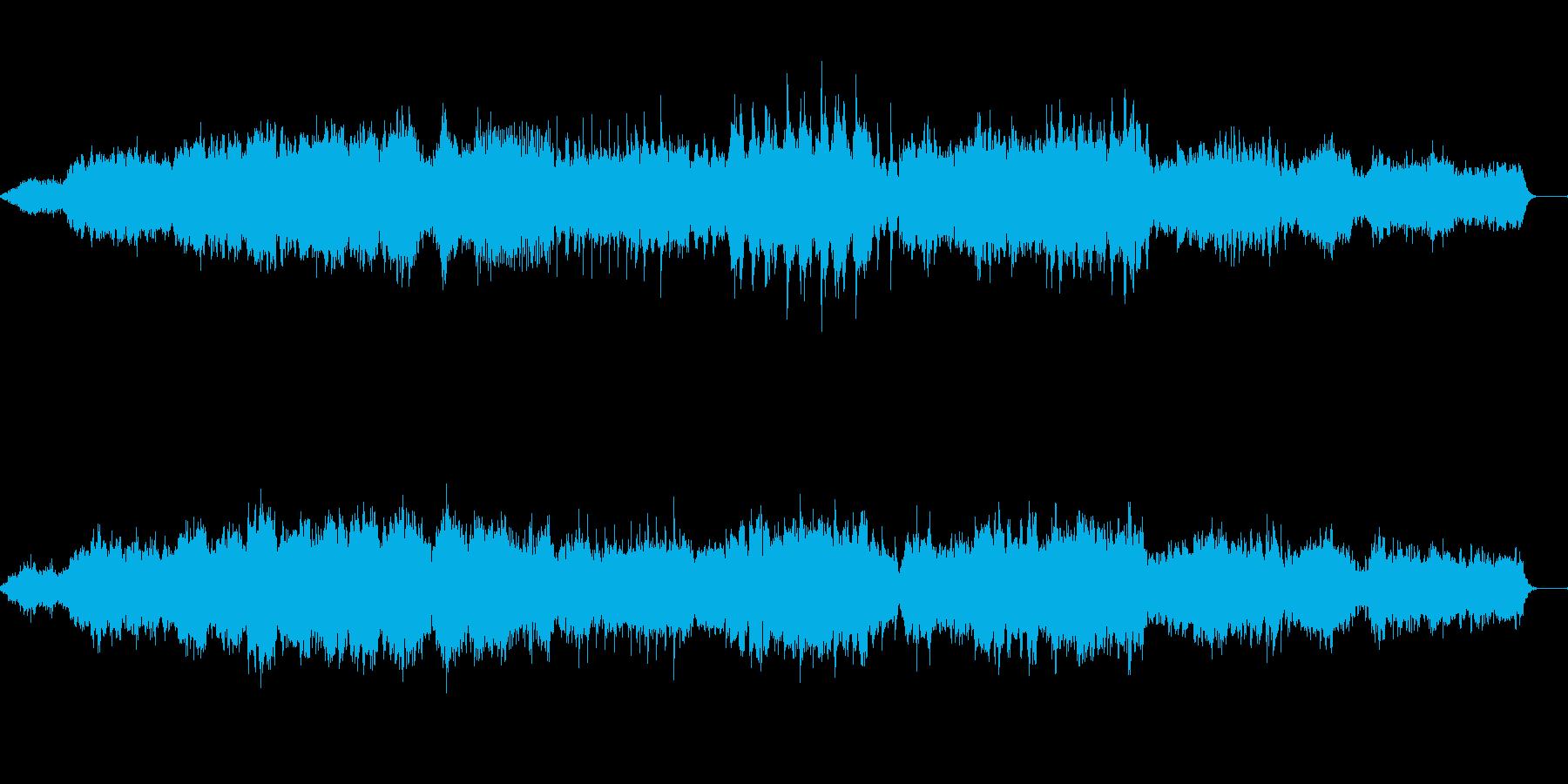 不思議な世界風のテクノの再生済みの波形
