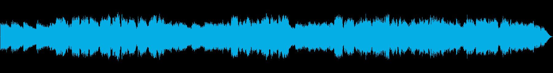 瞑想の笛とシンセサイザーの再生済みの波形
