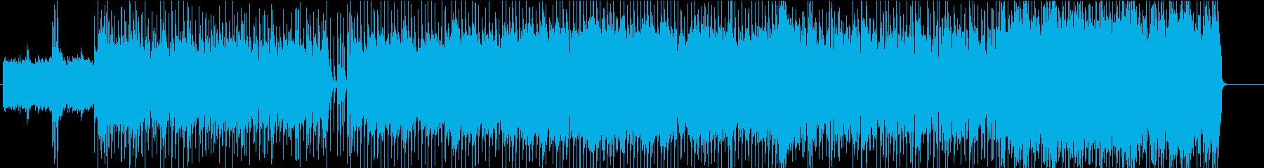 往年のハードロックを思い起こすBGM☆の再生済みの波形