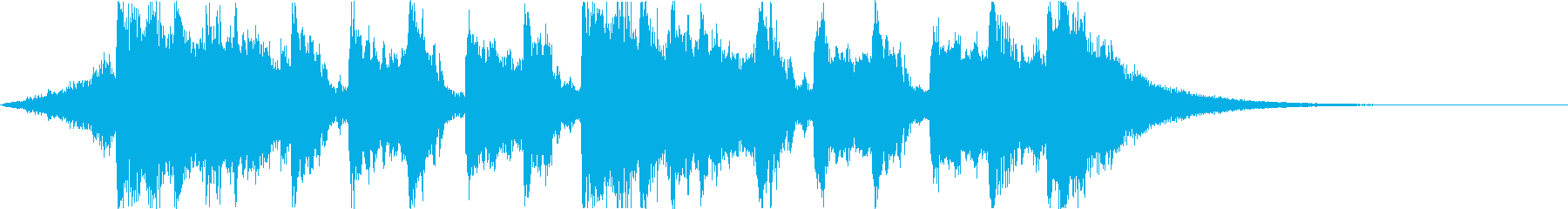 Comical and fun Halloween horror song d's reproduced waveform