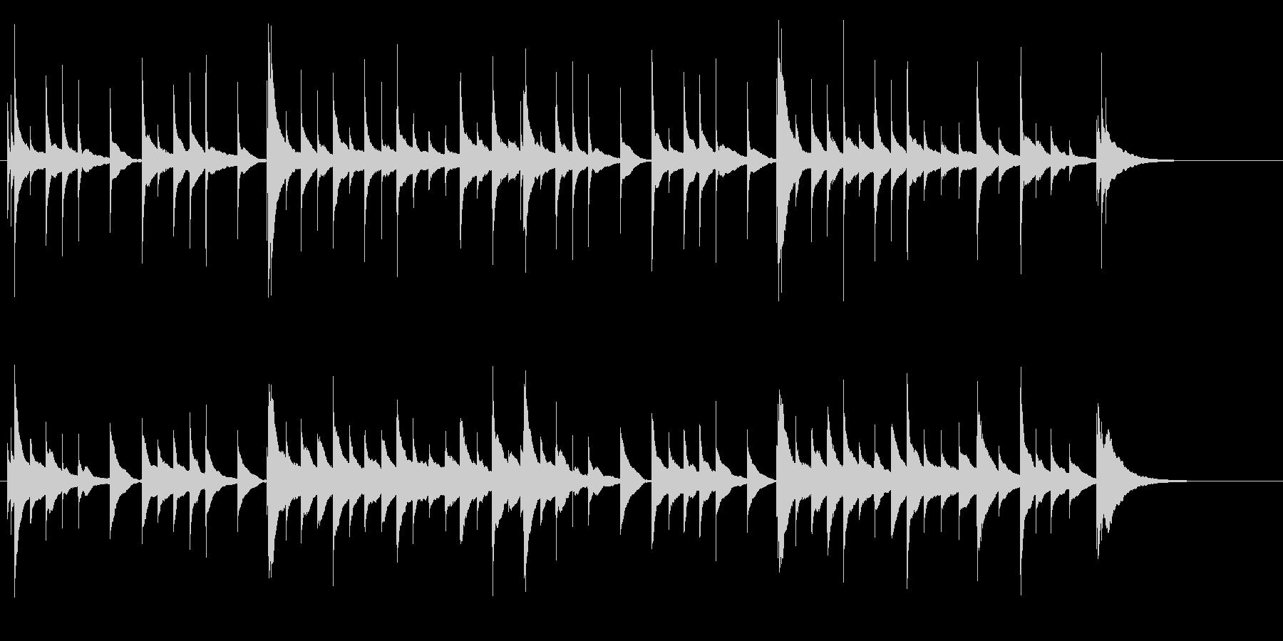 優しい雰囲気のオルゴールの未再生の波形
