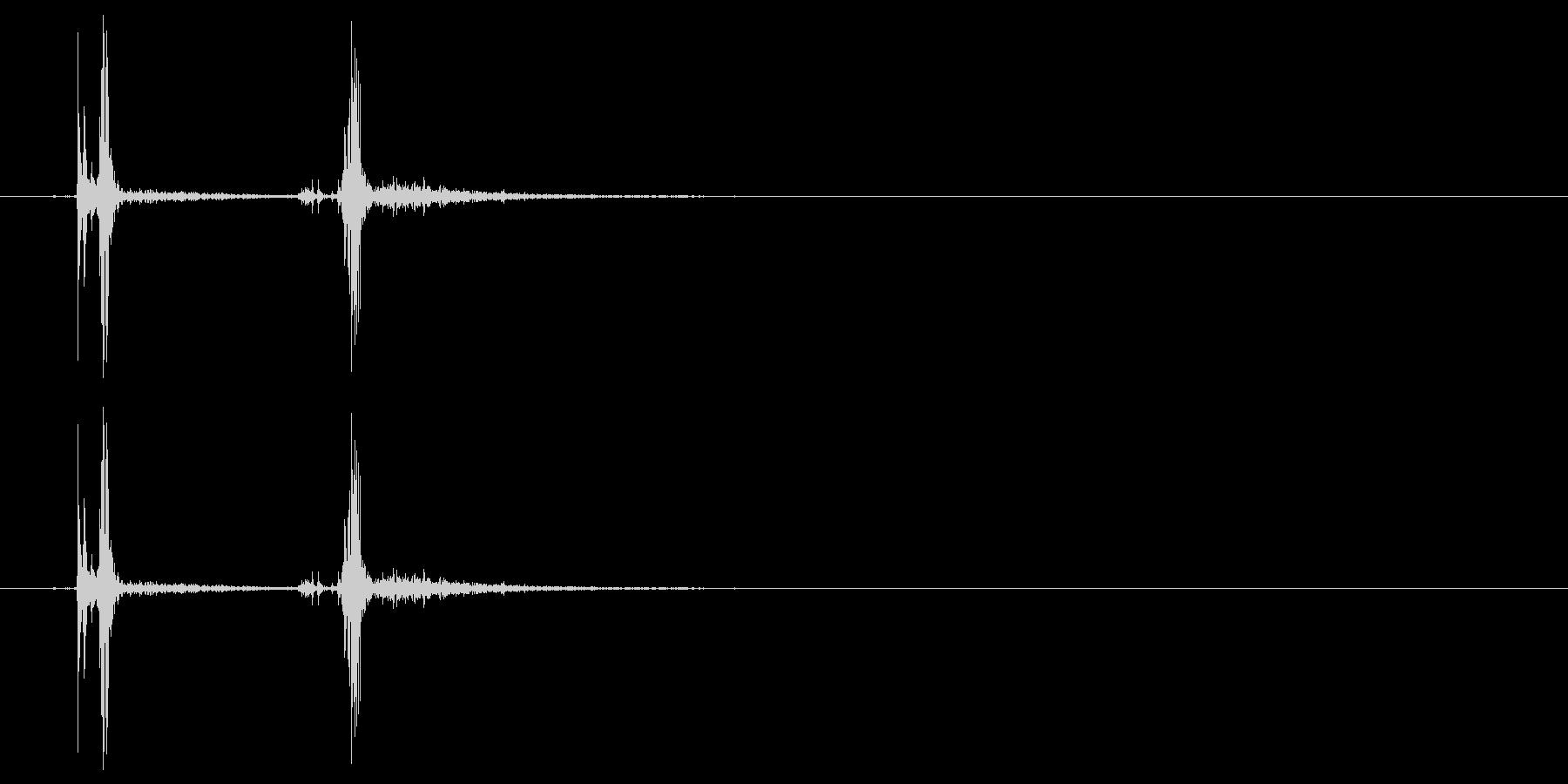 南京錠をカチッと閉める音_1の未再生の波形