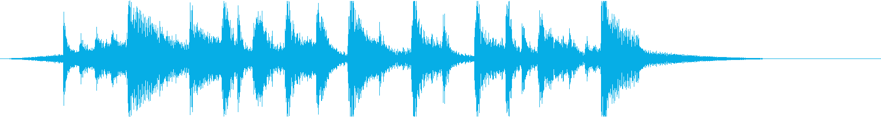 (˙꒳˙ᐢ)✋アニメのアイキャッチ3✋の再生済みの波形