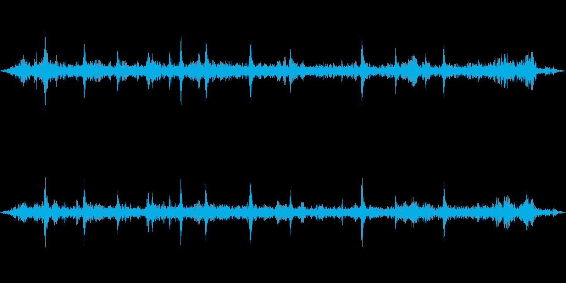 チュンチュン・・・(スズメたちの鳴き声)の再生済みの波形