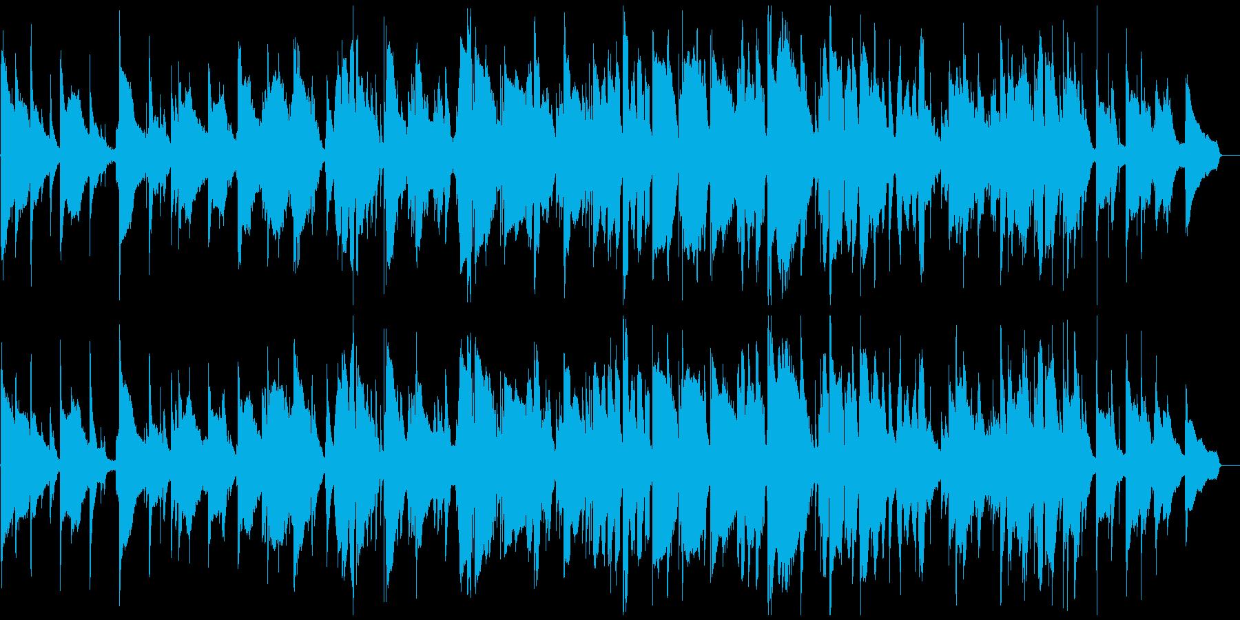 リラックスしすぎて眠りそうな癒し系BGMの再生済みの波形