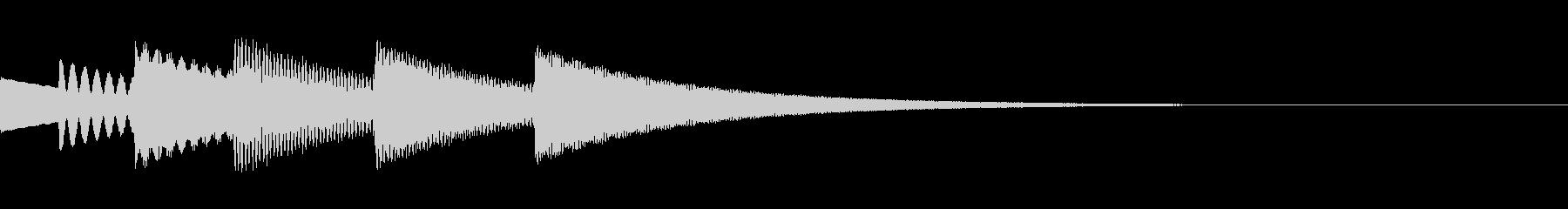 FX・SE/金属/スクロール/流れる音Cの未再生の波形