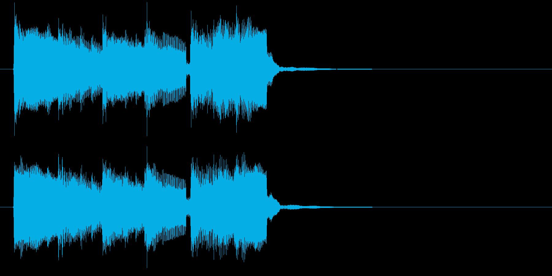 朝を連想させるキーボードの小曲の再生済みの波形