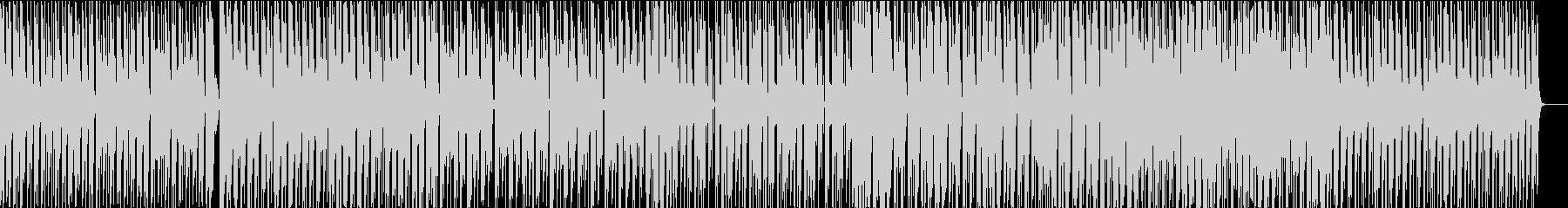 シンプルな構成の4つ打ちの未再生の波形