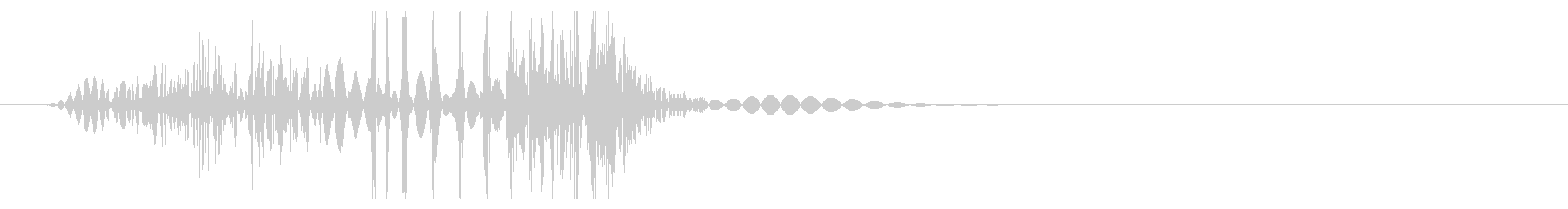 ボグッ(殴る音・弱)の未再生の波形