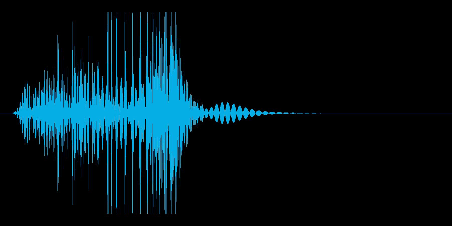 ボグッ(殴る音・弱)の再生済みの波形